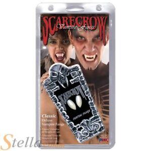 Scarecrow Classic Deluxe Vampire Fangs Teeth Halloween Fancy Dress Large Fit