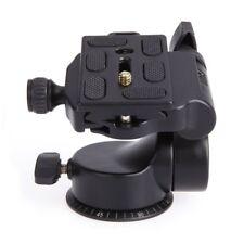 QZSD Q08 Video Tripod Ball Head 3-way Fluid Head with Quick Release Plate f D0O5