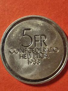 """5 Schweizer Franken 1983, """"100. Geburtstag von Ernest Ansermet"""""""