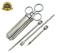 Meat  Injector - 2 oz Heavy duty Marinade Injector includes 3 marinade needles