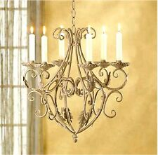 OLD WORLD IRON ROYALTY'S  6 TAPER HOLDERS CHANDELIER ** NIB