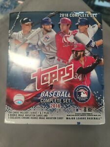2018 TOPPS BASEBALL CARD FACTORY SEALED SET ~ ROOKIE VARIANT CHROME EDITION