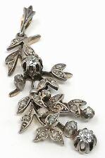 Weißgold Diamant Anhänger um 1920 mit 2 größeren Solitär-Diamanten