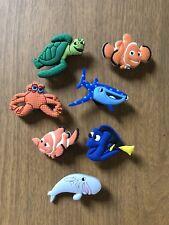7x Schuhstecker/Shoe Charms für Clogs/Crocs  Schuhpins Findet Nemo Dori Marlin