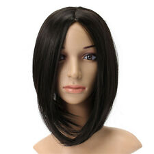 Black Short Straight Heat Temperature Fiber Synthetic Wig Cosplay Hair Party Wig