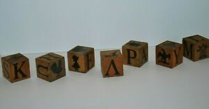 Group Wood Chatterblocks  ABC Block Alphabet Pictures Animals