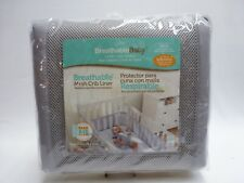 Breathable Baby Mesh Crib Liner Gray New Bumper