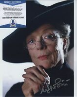 MAGGIE SMITH SIGNED AUTOGRAPHED COLOR 8X10 HARRY POTTER PHOTO BECKETT BAS COA