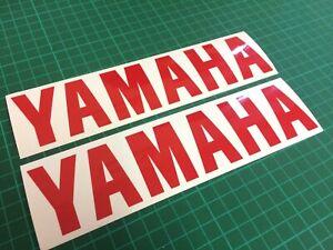 (X2) YAMAHA LOGO Stickers Decals Motorbike Tank Motorcycle 200x45mm GLOSS RED