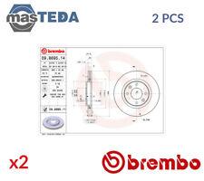 2x BREMBO FRONT BRAKE DISCS SET BRAKING PAIR 09869511 P NEW OE REPLACEMENT