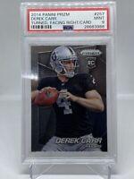 DEREK CARR 2014 PANINI PRIZM #257 ROOKIE CARD RC PSA 9 GRADED RAIDERS NFL $$