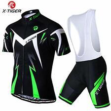 Men's Summer Short Sleeve Cycling Jersey+5D Gel Padded Coolmax Bib Short size S