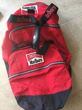 90s Vtg Red Marlboro Unlimited Duffel Bag w shoulder strap & Detachable Backpack