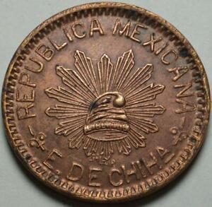 "1915 CHIHUAHUA Revolutionary MEXICO Nice ""10 CENTAVOS"" >From PANCHO VILLA'S ARMY"