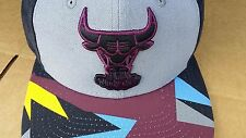 New Era Chicago Bulls Bordeaux Black Grey Air Jordan Retro 7 VII Snapback Hat xi