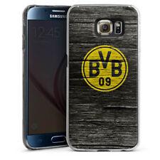 Samsung Galaxy S6 Handyhülle Case Hülle - BVB Holzoptik