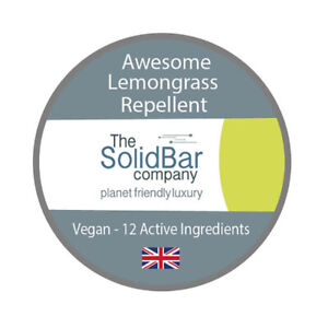 Awesome Lemongrass Repellent, The Solid Bar Company (Vegan & Cruelty Free)