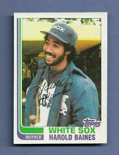 (3) 1980s HAROLD BAINES BASEBALL CARDs - NM/MINT CONDITION LOT - WHITE SOX