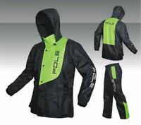 Men's Outdoor Raincoat Water-Resistant Motorcycle Riding Rain Pants Jacket Suits