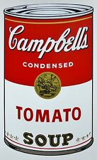 ANDY WARHOL CAMPBELLS' TOMATO Soup Can SUNDAY B.MORNING Silkscreen Print COA