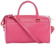 Saint Laurent Duffle Baby Tote Hot Pink Leather Cross Body Bag