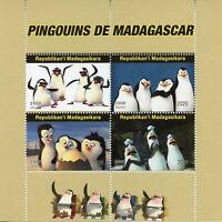 Madagascar Cartoons Stamps 2020 MNH Penguins of Madagascar Animation 4v M/S