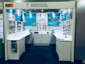 Trade Show Exhibition Expo Stand Solid Particle Board Pine Stud Walls & Cabinets