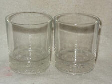 Pair Crown Royal Weighted Bottoms Whiskey Glasses Emblem on Bottom-Made in Italy