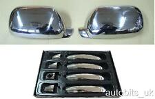 CHROME WING MIRROR & DOOR HANDLE COVERS VW TOUAREG 2002-11.2006 STAINLESS STEEL