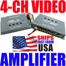 1 to 4 Video Amplifier Car Dvd Distribution Rca Splitter Signal Amp Processor