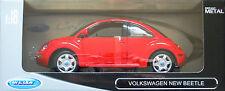 Welly 19846w: VW Nuevo Beetle, metal-modelo en 1/18, nuevo con embalaje original, sin abrir