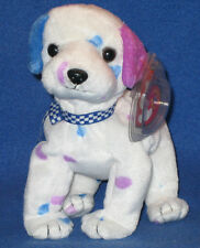 TY DIZZY the DALMATION BEANIE BABY - COLORED EARS & SPOTS - MINT with MINT TAG