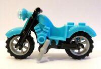 Lego Town/ City Medium Azure Vintage Motor bike   New