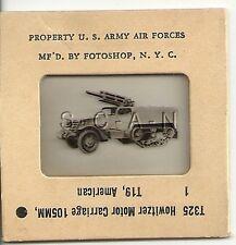 WWII US 35mm Recognition Slide Negative- T19 Halftrack- 105mm Howitzer Carriage