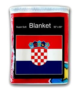 Croatia Flag Fleece Blanket NEW Croatian Travel Throw Hrvatska Zastava Hrvatske