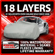 18 Layer Car Cover Outdoor Waterproof Scratchproof Breathable Fits 1994 Saturn Sl2