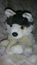 "Fiesta Lying Laying Wolf Pup Dog Plush Stuffed Tan Brown 10"" #01"