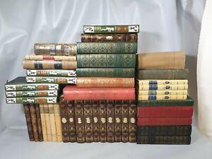 Gros lot LIVRES Relies Theme Romans XIXe XXe anciens books collection Buch D4