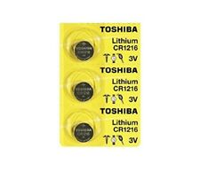 3 Toshiba CR1216 1216 Lithium Coin Cell 3V Batteries
