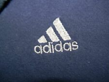vtg ADIDAS blue hooded sweatshirt hoodie men's L made in USA embroidered logo
