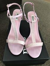 Dune Pink T Bar Sandals Size 41