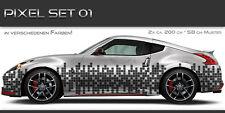 Pixel Auto Folien Aufkleber Set 01 Tuning Muster Design JDM Style