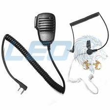 Mic + 3.5mm Listen Only Earpiece + 2 Earmolds Kenwood 2-Pin Radio TK NX Series