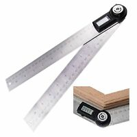Digital Angle Finder Meter 200MM Protractor 0~360° Stainless Steel Ruler IP54