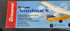 RC Flugzeug Vintage Graupner Amateur 2 Originalkarton und Pläne, Decals etc.