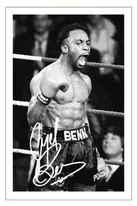 NIGEL BENN Signed Autograph PHOTO Fan Gift Signature Print BOXING Boxer