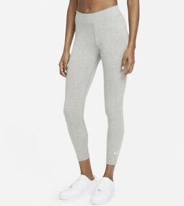 Women's Nike 7/8th Length Mid Rise Grey Small Leggings New With Tags
