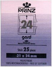 More details for prinz gard 24 black 21mm x 24 mm nine (9) packs of 25 mounts