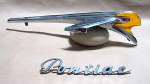 1950 PONTIAC AUTHENTIC ORIGINAL LIGHTED LUCITE HOOD ORNAMENT-EXCEPTIONAL COND