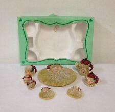 Christmas Mini Tea Set Santa Claus 10 Piece Set Decorative Collectible Nice